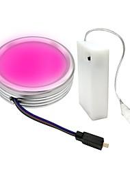 Недорогие -zdm 1pc 2w 5050 rgb светодиодный светильник для освещения нижнего шкафа с 3-мя кнопками управления мини-диммированием цвета aa для батарейки