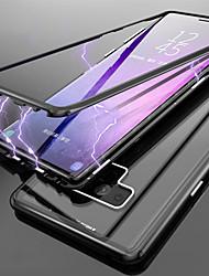 billiga -fodral Till Samsung Galaxy Note 9 / Note 8 Genomskinlig Fodral Enfärgad Hårt Härdat glas för Note 9 / Note 8