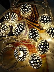 Недорогие -1,5 м Гирлянды 10 светодиоды Тёплый белый Декоративная / Cool 220-240 V