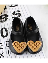 cheap -Girls' Shoes PVC(Polyvinyl chloride) Summer Comfort Flats Button for Baby / Toddler Black / Blue / Light Pink