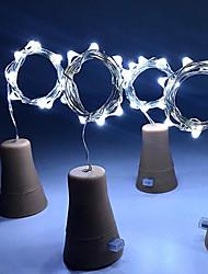 Недорогие -hkv® solar 8led бутылка вина пробка формы вел звездные огни строки ночь фея огни лампа для сада свадьба и рождественская вечеринка