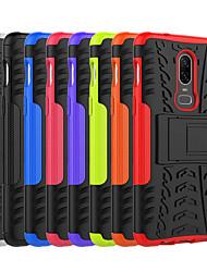 billiga -fodral Till OnePlus OnePlus 6 / OnePlus 5T Stötsäker / med stativ Skal Tegel / Rustning Hårt PC för OnePlus 6 / One Plus 5 / OnePlus 5T