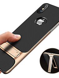 Недорогие -Кейс для Назначение Apple iPhone XR / iPhone XS Max Защита от удара / со стендом / Ультратонкий Кейс на заднюю панель Однотонный Твердый ПК для iPhone XS / iPhone XR / iPhone XS Max