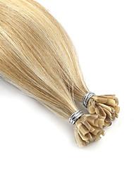 baratos -Neitsi Queratina / Ponta U Extensões de cabelo humano Liso Cabelo Remy Cabelo Humano Bege Loiro  /  /  Bleach Loiro