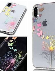 billige -Etui Til Apple iPhone XR / iPhone XS Max IMD / Transparent / Mønster Bagcover Sommerfugl / Mælkebøtte Blødt TPU for iPhone XS / iPhone XR / iPhone XS Max