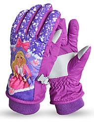 Недорогие -Зимние / Лыжные перчатки Девочки Полный палец С защитой от ветра / Сохраняет тепло / Пригодно для носки Хлопок / полиэфир Катание на лыжах / Снежные виды спорта / Сноубординг Зима