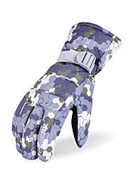 Недорогие -Спортивные перчатки Зимние Лыжные перчатки Жен. Снежные виды спорта Полный палец Зима Регулируется Водонепроницаемость С защитой от ветра Фланель Тканый хлопок