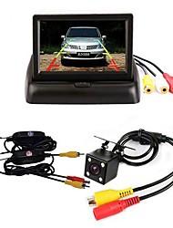abordables -BYNCG 4.3ZD 4.3 pouce TFT-LCD 480 TVL 480p Capteur CMOS couleur 1/4 pouces Câblé 120 Degrés 1 pcs 120 ° 4.3 pouce Caméra de recul / Moniteur d'inversion de voiture / Kit de vue arrière de voiture