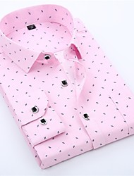 Недорогие -мужская рубашка с увеличенным размером - графический классический ошейник