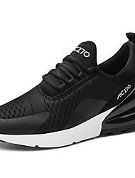 abordables -Homme Chaussures de confort Tricot / Maille Printemps Sportif / Décontracté Chaussures d'Athlétisme Course à Pied Respirable Noir / Noir et blanc / Kaki