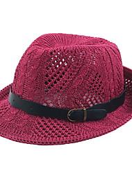 Недорогие -мужская полиэфирная гибкая шляпа - сплошной цвет