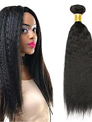 voordelige -4 bundels Mongools haar YakiRecht 8A Echt haar Niet verwerkt Menselijk Haar Menselijk haar weeft Verlenging Bundle Hair 8-28 inch(es) Natuurlijke Kleur Menselijk haar weeft Eenvoudig nieuwe
