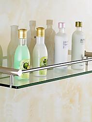Недорогие -Полка для ванной Новый дизайн / Cool Modern стекло / Металл 1шт Односпальный комплект (Ш 150 x Д 200 см) На стену