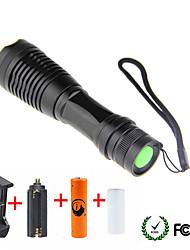 Недорогие -UltraFire Светодиодные фонари Светодиодная лампа LED 1 излучатели 1800/2000/2200 lm 5 Режим освещения с батареей и зарядными устройствами Масштабируемые