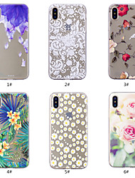 povoljno -Θήκη Za Apple iPhone XS / iPhone XS Max Uzorak Stražnja maska Cvijet Mekano TPU za iPhone XS / iPhone XR / iPhone XS Max