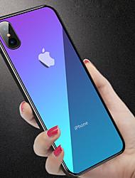 Недорогие -Кейс для Назначение Apple iPhone XR / iPhone XS Max Защита от удара / Полупрозрачный Кейс на заднюю панель Однотонный Твердый Закаленное стекло для iPhone XS / iPhone XR / iPhone XS Max