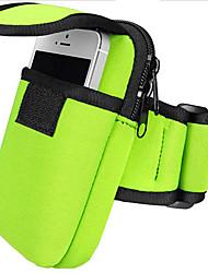 Недорогие -Универсальные Мешки Нейлон Мобильный телефон сумка Молнии Сплошной цвет Зеленый / Черный / Красный