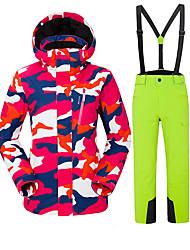 Недорогие -Vector Жен. Лыжная куртка и брюки С защитой от ветра, Дожденепроницаемый, Теплый Катание на лыжах / Отдых и Туризм / Сноубординг Полиэфир Брюки / Снегурочка / Верхняя часть Одежда для катания на лыжах