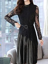 billige -kvinders slanke kappe kjole høj talje knælængde