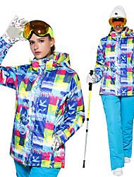 abordables -Wild Snow Femme Veste & Pantalons de Ski Pare-vent, Chaud, Ventilation Ski / Multisport / Sports de neige Polyester Ensemble de Vêtements Tenue de Ski