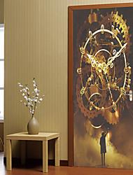 Недорогие -Дверные наклейки - 3D наклейки Абстракция / Пейзаж Гостиная / Спальня