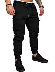 Недорогие -мужские хлопчатобумажные брюки из хлопка - сплошной цвет