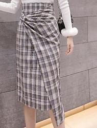 billige -kvinder går ud knælængde blyant nederdele - farve blok