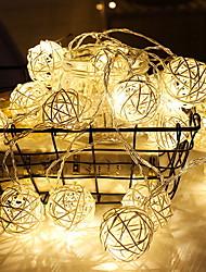 Недорогие -2м Гирлянды 10 светодиоды Тёплый белый Декоративная Аккумуляторы AA 1 комплект