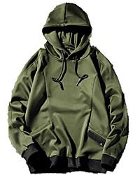 billiga -män går ut med långärmad löst hoodie - solid färgad huva