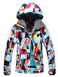 Недорогие -GSOU SNOW Жен. Лыжная куртка Лыжные очки, Лыжи, Зимние виды спорта Зимние виды спорта Полиэфир Верхняя часть Одежда для катания на лыжах
