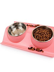 Недорогие -500 L Собаки / Коты Миски и бутылки с водой Животные Чаши и откорма На каждый день Зеленый / Синий / Розовый