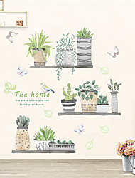 Недорогие -Декоративные наклейки на стены - Простые наклейки Цветочные мотивы / ботанический В помещении
