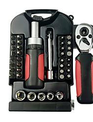 Недорогие -40-кусочная ручка с коротким рукояткой для инструментов с ручным управлением прозрачная коробка с храповым механизмом