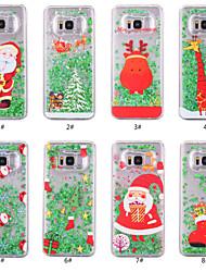 Недорогие -Кейс для Назначение SSamsung Galaxy S8 Plus / S8 Движущаяся жидкость / Прозрачный / С узором Кейс на заднюю панель Рождество Твердый ПК для S8 Plus / S8 / S7 edge