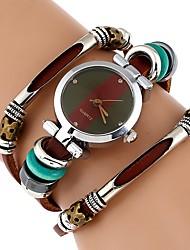 Недорогие -Жен. Часы-браслет Кварцевый Коричневый Повседневные часы Имитация Алмазный Аналоговый Винтаж Мода - Зеленый Один год Срок службы батареи