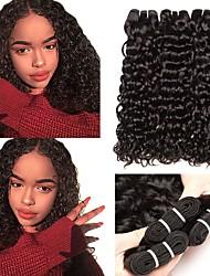 Недорогие -3 Связки Бразильские волосы Волнистые 8A Натуральные волосы Человека ткет Волосы Пучок волос One Pack Solution 8-28 дюймовый Нейтральный Естественный цвет Ткет человеческих волос