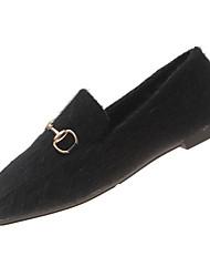 Недорогие -Жен. Комфортная обувь Кролик Зима На каждый день На плокой подошве На плоской подошве Черный / Хаки