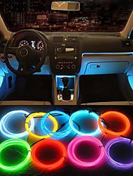 Недорогие -Ziqiao 5 м автомобиль 12 В светодиодные холодные фонари гибкие неоновые провода el auto лампы на автомобиле холодные полосы света линии украшения интерьера полосы