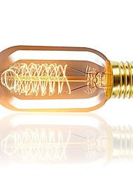 Недорогие -1 шт. 40 Вт E26 / E27 T45 теплый белый 2200-2800 К ретро с регулируемой яркостью декоративные лампы накаливания Винтаж Эдисон лампочка 220-240 В
