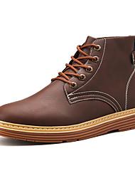 Недорогие -Муж. Армейские ботинки Кожа Зима На каждый день / Английский Ботинки Сохраняет тепло Ботинки Черный / Коричневый / Военно-зеленный