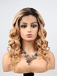 Недорогие -человеческие волосы Remy Полностью ленточные Лента спереди Парик Ассиметричная стрижка Прически Венди Вилламс стиль Бразильские волосы Естественные кудри Свободные волны Парик 130% 150% 180