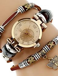 Недорогие -Жен. Часы-браслет Кварцевый Коричневый Повседневные часы Имитация Алмазный Аналоговый Винтаж Мода - Белый Один год Срок службы батареи