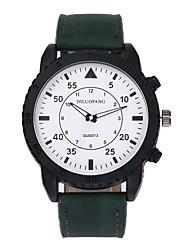Недорогие -Муж. Наручные часы Кварцевый Новый дизайн Повседневные часы Крупный циферблат сплав Группа Аналоговый На каждый день Мода Черный / Белый / Коричневый - Серый Коричневый Зеленый / Один год