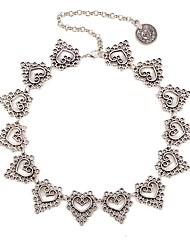 billiga -Dam Chokerhalsband - Hjärta Docka Lolita Silver 35+5 cm Halsband Smycken 1st Till Dagligen, Festival