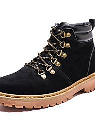 Недорогие -Муж. Армейские ботинки Полиуретан Осень На каждый день Ботинки Дышащий Сапоги до середины икры Черный / Желтый / Коричневый