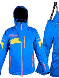 billiga Sport och friluftsliv-Wild Snow Herr Skidjacka och -byxor Vindtät, Vattentät, Varm Skidåkning / Vintersport POLY Klädesset Skidkläder