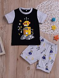 tanie -Dzieci / Brzdąc Dla chłopców Nadruk Krótki rękaw Komplet odzieży