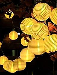 Недорогие -5 метров Гирлянды 20 светодиоды Белый Работает от солнечной энергии / Декоративная Солнечная энергия 1 комплект