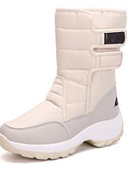 Недорогие -Жен. Комфортная обувь Синтетика Зима На каждый день Ботинки Туфли на танкетке Круглый носок Сапоги до колена Бежевый / Пурпурный / Синий
