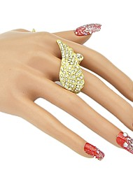 baratos -Mulheres Zircônia Cubica Tropical Anel aberto - Liga senhoras, Básico, Fashion Jóias Dourado Para Diário Encontro 7